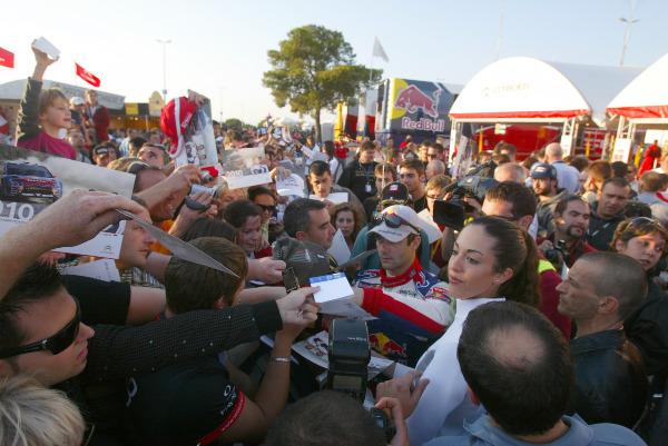 MOTORSPORT - WORLD RALLY CHAMPIONSHIP 2010 - RALLY RACC CATALUNYA COSTA DAURADA / RALLY DE ESPANA / RALLYE D'ESPAGNE - SALOU (SPA) - 21 TO 24/10/10 - PHOTO : BASTIEN BAUDIN / DPPI -  LOEB SEBASTIEN (FRA) - CITROËN C4 WRC - CITROËN TOTAL WRT - AMBIANCE