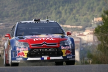 MOTORSPORT - WORLD RALLY CHAMPIONSHIP 2010 - RALLY RACC CATALUNYA COSTA DAURADA / RALLY DE ESPANA / RALLYE D'ESPAGNE - SALOU (SPA) - 21 TO 24/10/10 - PHOTO : BASTIEN BAUDIN / DPPI -  LOEB SEBASTIEN (FRA) / ELENA DANIEL (MON) - CITROËN C4 WRC - CITROËN TOTAL WRT - ACTION
