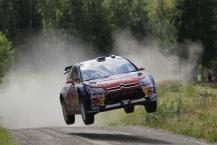 MOTORSPORT - WORLD RALLY CHAMPIONSHIP 2010 - NESTE OIL RALLY FINLAND / RALLYE DE FINLANDE - JYVASKYLA (FIN) - 29 TO 31/08/2010 - PHOTO : FRANCOIS BAUDIN / DPPI -  SEBASTIEN LOEB / DANIEL ELENA - CITROEN TOTAL WRT CITROEN C4 WRC - ACTION