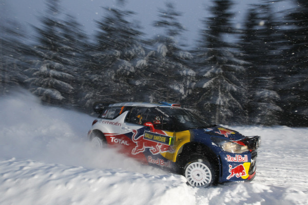 MOTORSPORT - WORLD RALLY CHAMPIONSHIP 2011 - RALLY SWEDEN / RALLYE DE SUEDE - 10 TO 13/02/2011 - KARLSTAD (SWE) - PHOTO : DPPI -  01 SEBASTIEN LOEB / DANIEL ELENA - CITROEN DS3 WRC - CITROEN RACING TOTAL WORLD RALLY TEAM - ACTION