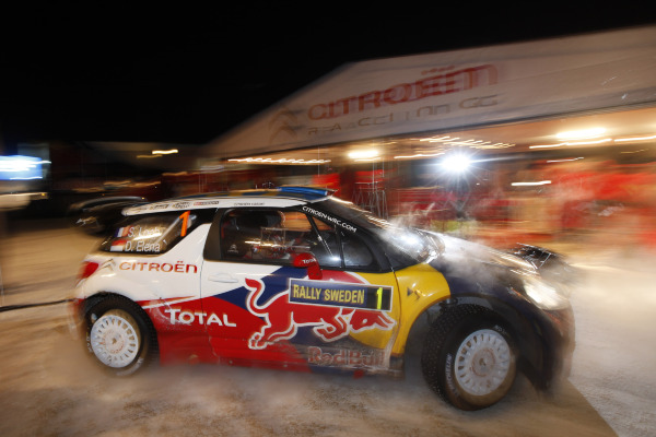 MOTORSPORT - WORLD RALLY CHAMPIONSHIP 2011 - RALLY SWEDEN / RALLYE DE SUEDE - 10 TO 13/02/2011 - KARLSTAD (SWE) - PHOTO : FRANCOIS BAUDIN /  DPPI -  01 SEBASTIEN LOEB / DANIEL ELENA - CITROEN DS3 WRC - CITROEN RACING TOTAL WORLD RALLY TEAM - ACTION