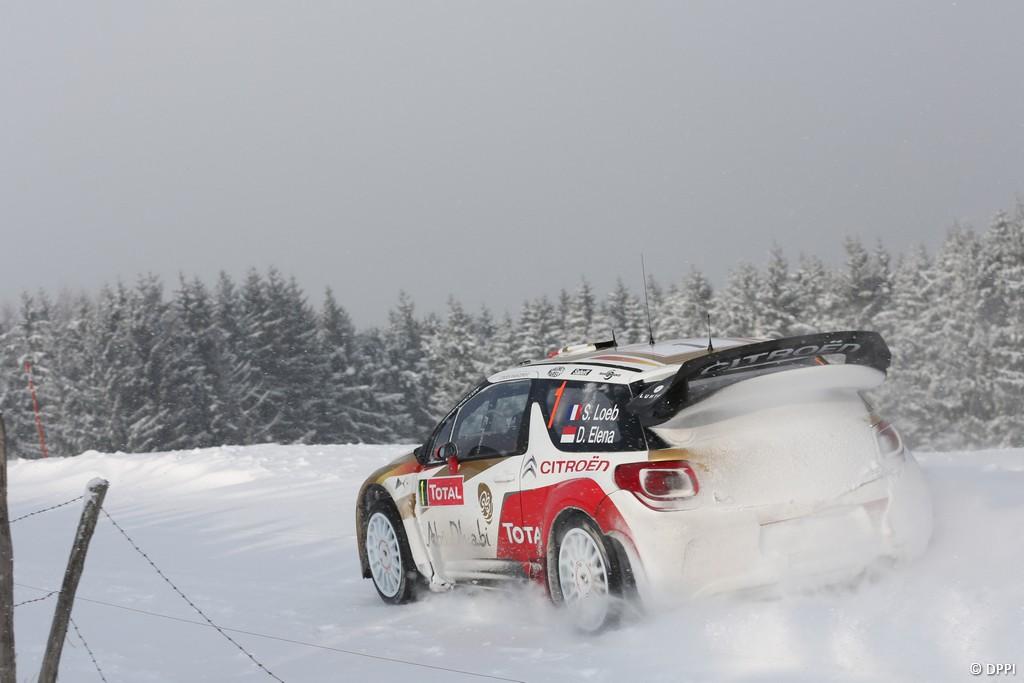 MOTORSPORT - WRC 2013 - RALLYE MONTE CARLO - VALENCE (FRA) & MONACO (MON) - 16 TO 20/01/2013 - PHOTO : FRANCOIS BAUDIN / DPPI -  01 LOEB Sebastien / ELENA Daniel - CITROEN TOTAL ABU DHABI WRT (FRA) - CITROEN DS3 WRC / ACTION