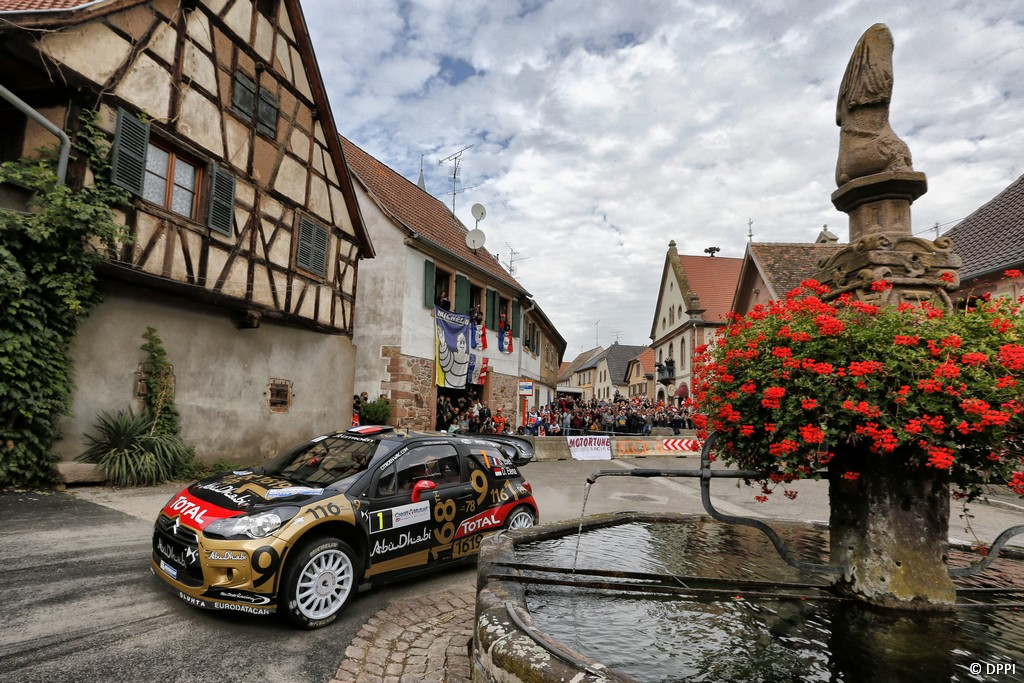 MOTORSPORT - WORLD RALLY CHAMPIONSHIP 2013 - RALLY OF FRANCE - ALSACE - 04 TO 06/10/2013 - PHOTO FRANCOIS BAUDIN / DPPI - 01 LOEB Sebastien / ELENA Daniel - CITROEN TOTAL ABU DHABI WRT (FRA) - CITROEN DS3 WRC / ACTION