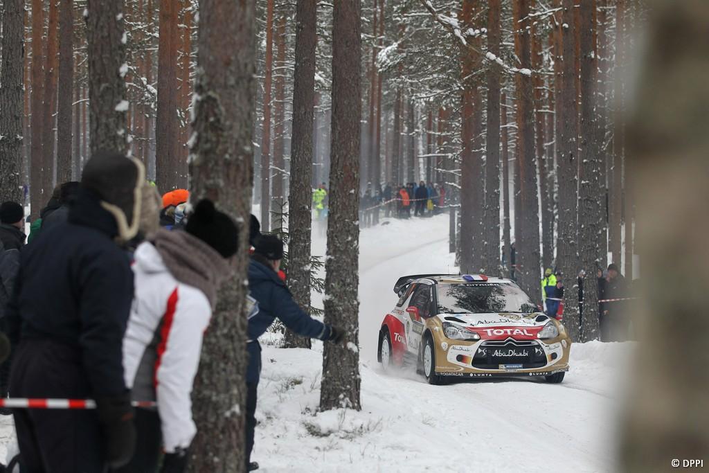 MOTORSPORT - WORLD RALLY CHAMPIONSHIP 2013 - RALLY SWEDEN / RALLYE DE SUEDE - 06 TO 10/02/2013 - KARLSTAD (SWE) - PHOTO : FRANCOIS BAUDIN /  DPPI -01 LOEB Sebastien / ELENA Daniel - CITROEN TOTAL ABU DHABI WRT (FRA) - CITROEN DS3 WRC / ACTION