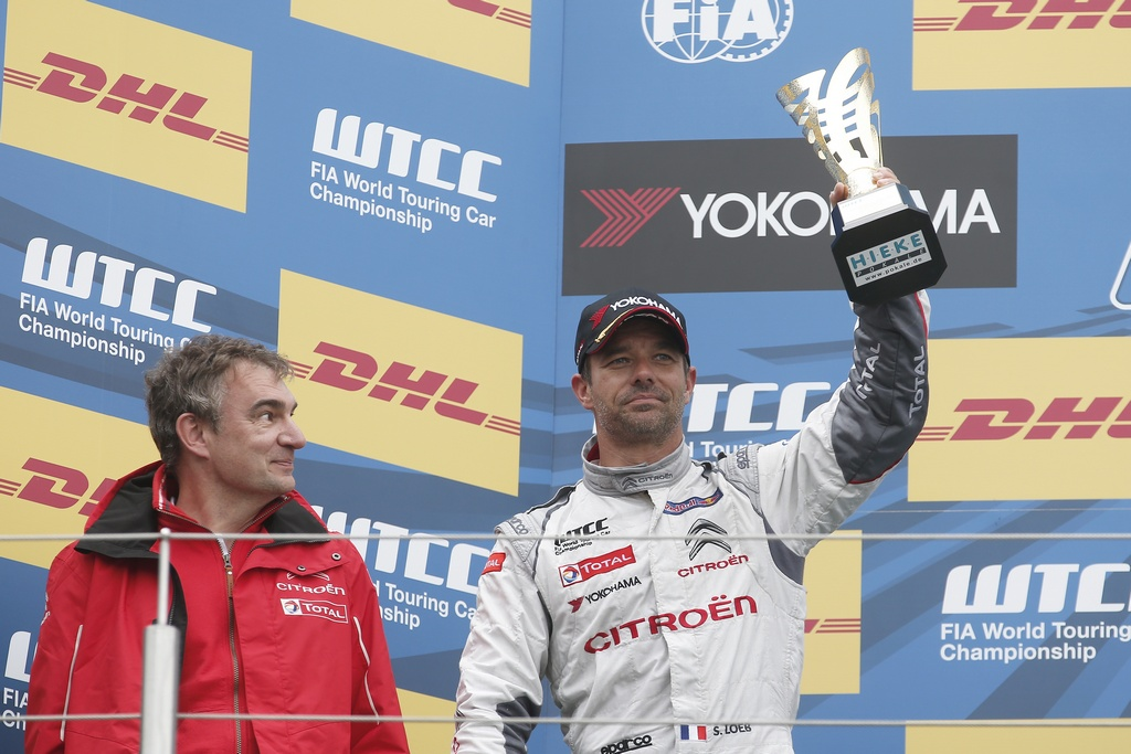 LOEB Sebastien (fra) Citroen C Elysee team Citroen racing portrait ambiance podium during the 2015 FIA WTCC World Touring Car Race of Nurburgring, Germany from May 15th to 17th 2015. Photo Jean Michel Le Meur / DPPI.