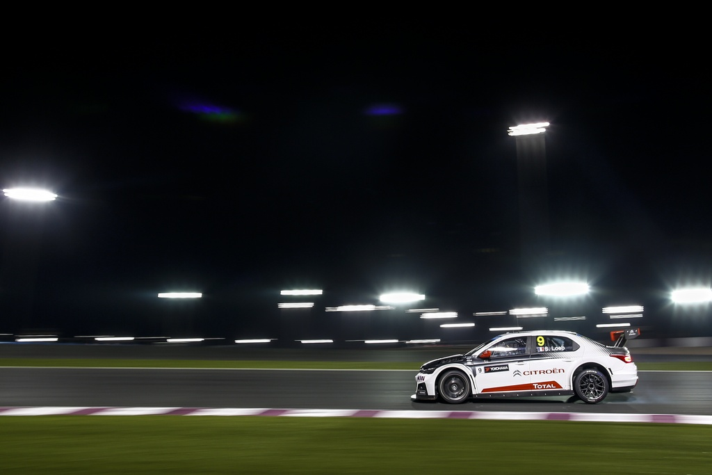 09 LOEB Sebastien (fra) Citroen C Elysee team Citroen racing action  during the 2015 FIA WTCC World Touring Car Championship race at Losail  from November 25th to 27th  2015, Qatar. Photo Frederic Le Floc'h / DPPI
