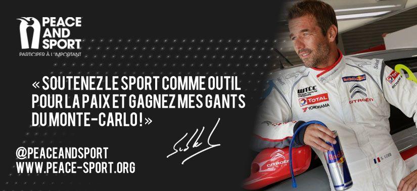 Les Champions de la Paix Sébastien Loeb et Daniel Elena au Rallye de Monte-Carlo pour Peace and Sport