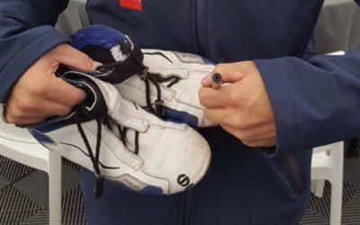 Les bottines dédicacées de Sébastien Loeb en vente au profit du syndrome d'Angelman